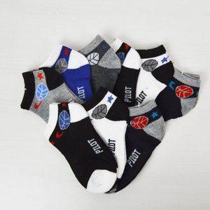 NWT 9-Pairs Boy's Cotton Socks 1-3 YO